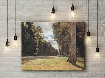 Claude Monet: The Pave de Chailly in the Fontainebleau Forest. Fine Art Canvas.